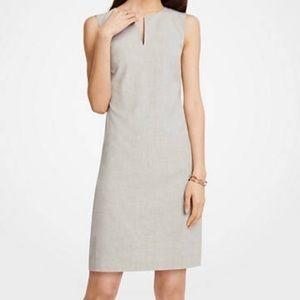 Ann Taylor Keyhole Shift Dress - Pearl Grey